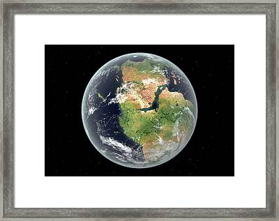 Early Jurassic Earth Framed Print by Walter Myers