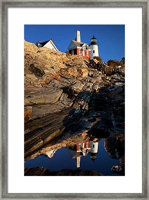 Early Morning Below Pemaquid Point Framed Print by Brian Jannsen