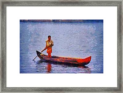 Early Morning Fishing In India Framed Print by George Atsametakis
