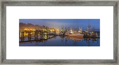 Early Morning Harbor Framed Print by Jon Glaser