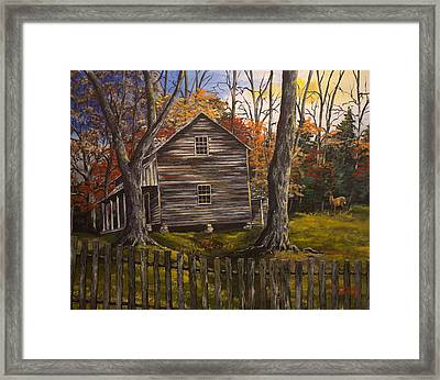 Early Morning In The Smokey Mountains Framed Print by Julia Robinson
