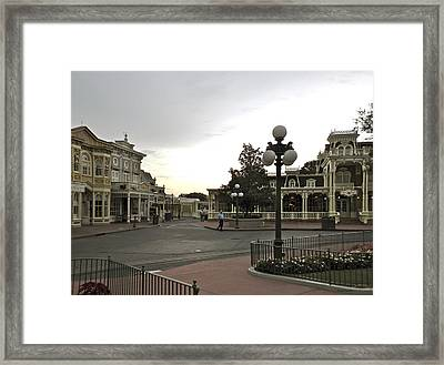 Early Morning Magic Kingdom Walt Disney World Framed Print by Thomas Woolworth