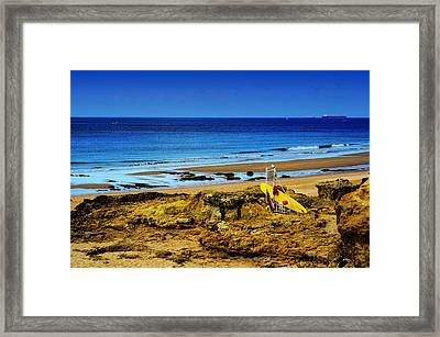 Early Morning On The Beach Framed Print by Marco Oliveira