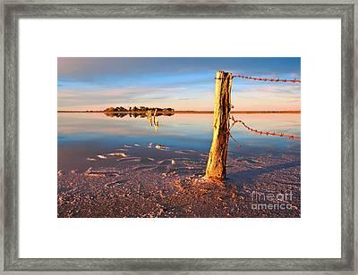 Early Morning Salt Pan Framed Print by Bill  Robinson