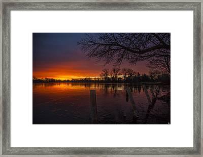 Early Morning Sunrise Framed Print by Nicholas  Grunas