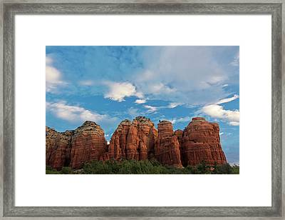 Early Morning, Teapot Trail, Coconino Framed Print by Michel Hersen
