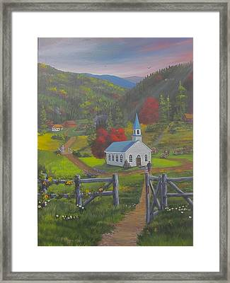 Early On The Lord's Day Framed Print by Glen Gray