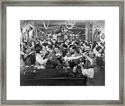 Early Silent Movie Scene Framed Print by Underwood Archives
