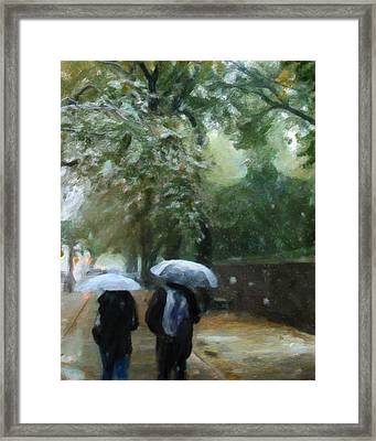 Early Snow Framed Print by Michael Pickett