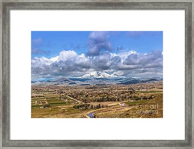 Early Spring In Emmett Valley Framed Print by Robert Bales