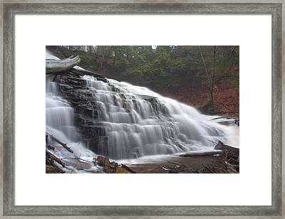 Early Spring Mist Over Mohawk Falls Framed Print by Gene Walls