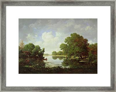Early Summer Afternoon Framed Print by Pierre Etienne Theodore Rousseau