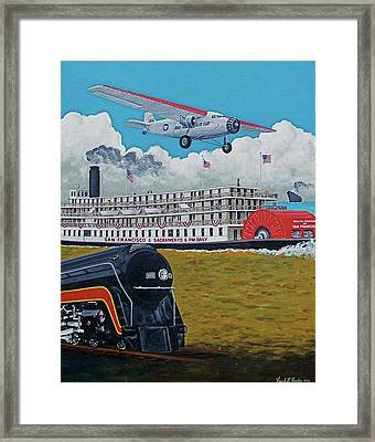 Early Transportation Framed Print by Frank Hunter