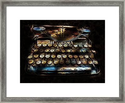 Early Word Processor Framed Print by Cary Shapiro