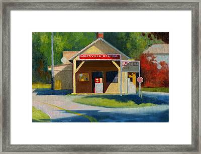 Earlysville Virginia Old Service Station Nostalgia Framed Print by Catherine Twomey