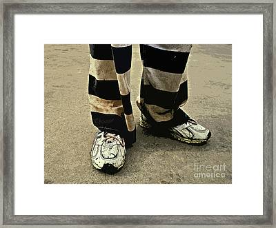 Earning Stripes Framed Print by Joe Jake Pratt