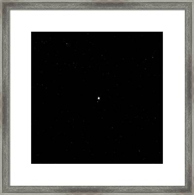Earth And Moon From Space Framed Print by Nasa