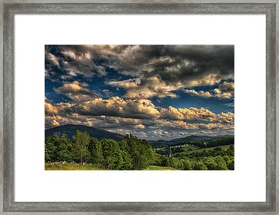 Earth Bending At Mt. Ascutney Framed Print by Nathan Larson