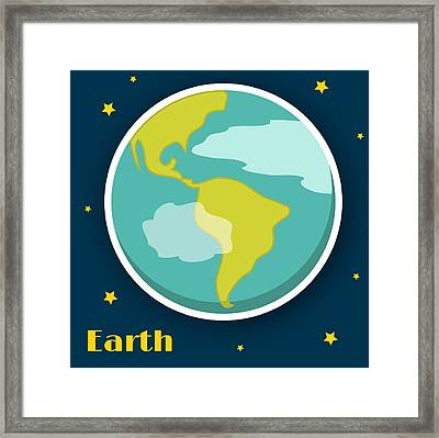 Earth Framed Print by Christy Beckwith