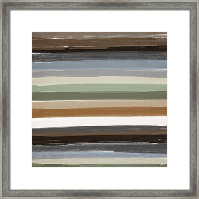 Earth Colors Framed Print by Lourry Legarde