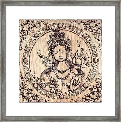 Earth Goddess Framed Print by Nozomi Takeyabu