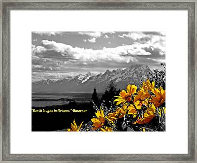 Earth Laughs In Flowers Framed Print by Dan Sproul