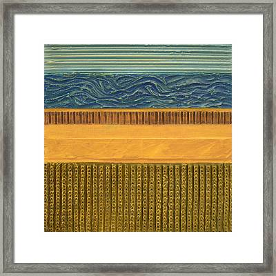 Earth Layers Abstract L Framed Print by Michelle Calkins