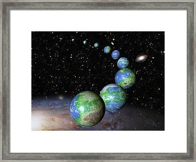 Earth-like Alien Planets Framed Print by Nasa/esa/g.bacon/stsci