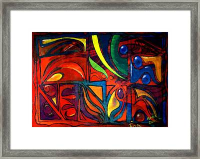 Earth Framed Print by Marcello Cicchini