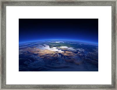 Earth - Mediterranean Countries Framed Print by Johan Swanepoel