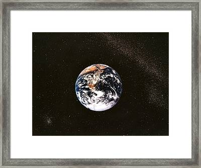 Earth Seen From Apollo 17 Africa And Antarctica Visible Framed Print by Anonymous