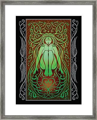 Earth Spirit V.2 Framed Print by Cristina McAllister