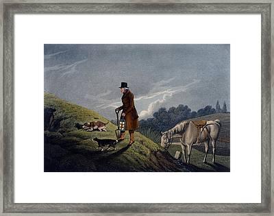 Earth Stopper, 1820 Framed Print by Henry Thomas Alken