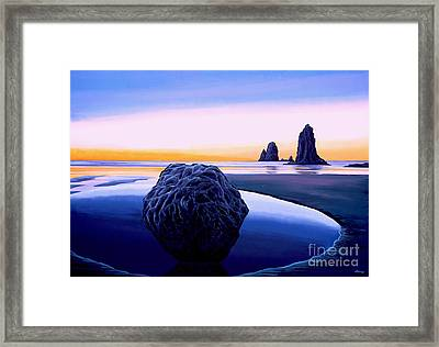 Earth Sunrise Framed Print by Paul Meijering