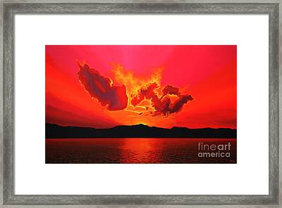 Earth Sunset Framed Print by Paul Meijering