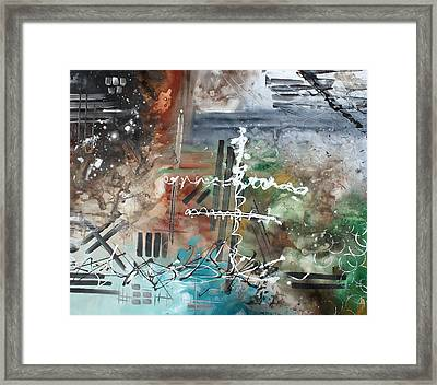 Earth Wind And Fire Abstract Painting Madart Framed Print by Megan Duncanson