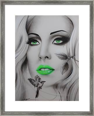 Lady Gaga - ' Earthbound ' Framed Print by Christian Chapman Art