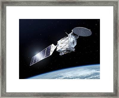 Earthcare Satellite Framed Print by Esa-p.carril