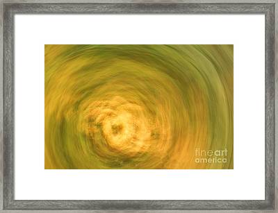 Earthly Whirlpool Framed Print by Imani  Morales
