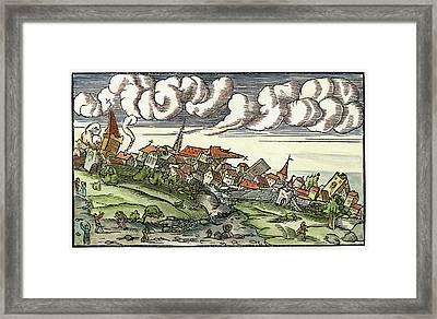 Earthquake, 1550 Framed Print by Granger