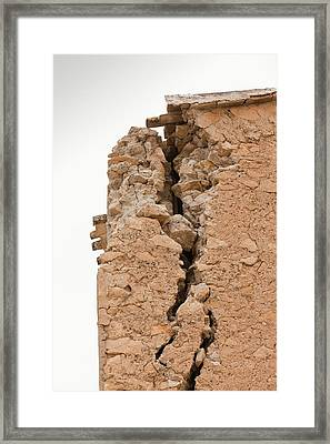 Earthquake Damage In Lorca Framed Print by Ashley Cooper