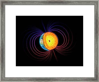 Earth's Core Framed Print by Andrzej Wojcicki