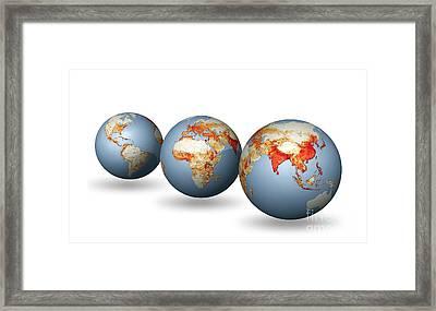 Earth's Population, Artwork Framed Print by Carlos Clarivan
