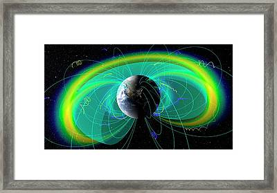 Earth's Radiation And Plasma Belts Framed Print by Nasa/scientific Visualization Studio