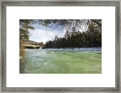 East Branch Of The Pemigewasset River - Lincoln New Hampshire Usa Framed Print by Erin Paul Donovan