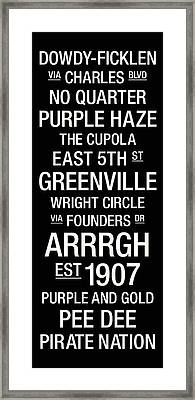 East Carolina College Town Wall Art Framed Print by Replay Photos