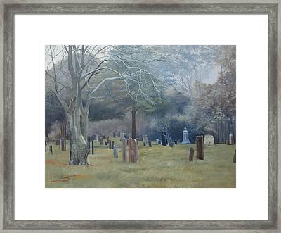 East End Cemetery Amagansett Framed Print by Barbara Barber