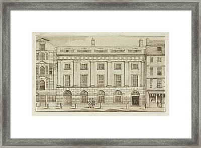 East India House In The City Of London Framed Print by British Library