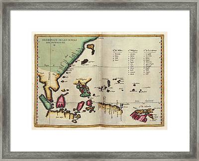 East Indies Framed Print by Library Of Congress, Geography And Map Division