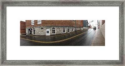 East Oak St Mount Airy Nc Framed Print by Greg Joens